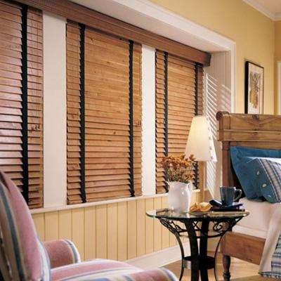 persianas de madera horizontal