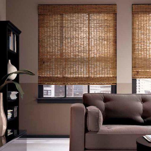 window-blinds-online-blinds-lowes-natural-fiber-plants-window-sheets-black-framed-mirror-black-bookshelf-grey-deep-sofa